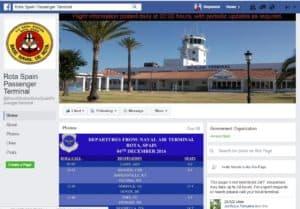 Rota passenger terminal Facebook pages