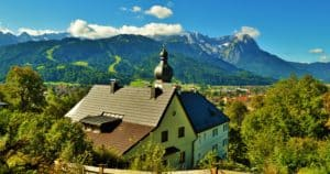 Image of a house in the mountains in Garmisch, Germany