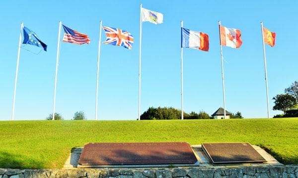 Flags at Omaha Beach Golf Club, one of 3 top golf courses