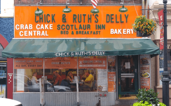 The outside of Chick and Ruth's Delly