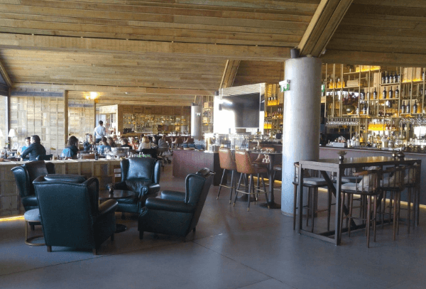 The spacious dining area in Enoteca 17-56, one of our favorite restaurants in Porto